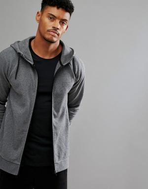 Jack Wills Sporting Goods Серый свитер на молнии. Цвет: серый