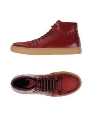 Высокие кеды и кроссовки FABIANO RICCI. Цвет: красно-коричневый