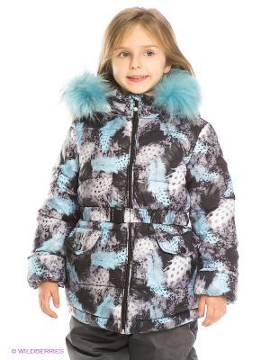 Куртка Pulka. Цвет: темно-серый, голубой