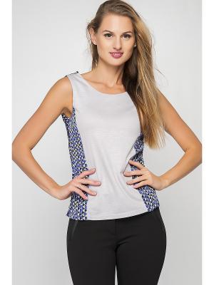 Блузка Formalab. Цвет: серый, темно-фиолетовый