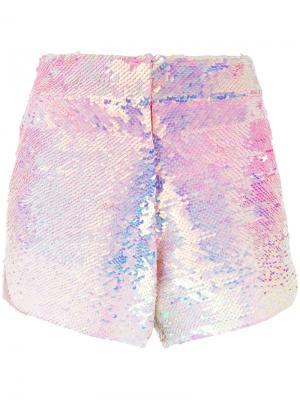 Шорты с пайетками Manish Arora. Цвет: розовый и фиолетовый