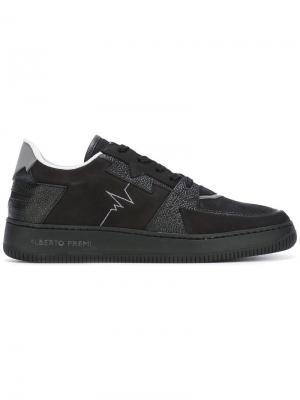 Кроссовки с панельным дизайном Alberto Premi. Цвет: чёрный