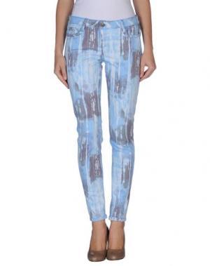 Джинсовые брюки BLEULAB. Цвет: небесно-голубой