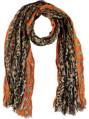 Платок Passigatti. Цвет: коричневый, оранжевый