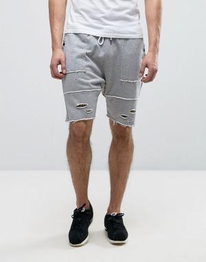 Cayler & Sons Рваные шорты заниженного кроя. Цвет: серый