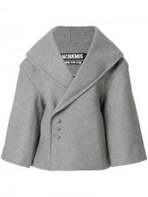 Пальто La Caban Jacquemus. Цвет: серый