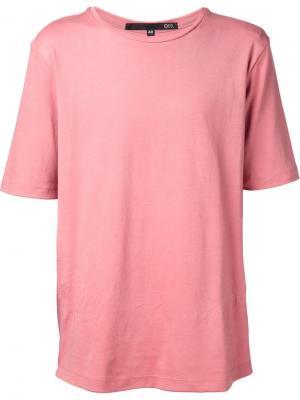 Футболка с диагональным швом на спинке Ødd.. Цвет: розовый и фиолетовый