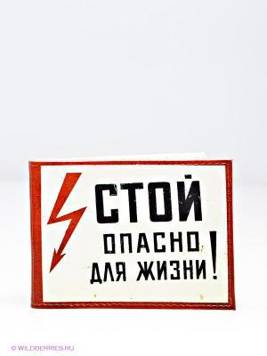 Обложка для студенческого Mitya Veselkov. Цвет: красный, белый