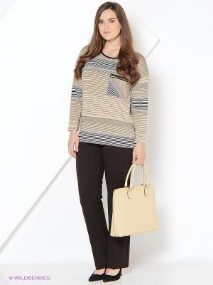 Блуза BALSAKO. Цвет: коричневый