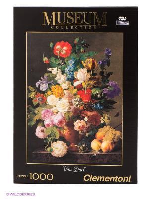 Пазл Ваза с цветами Clementoni. Цвет: черный, зеленый, красный, белый