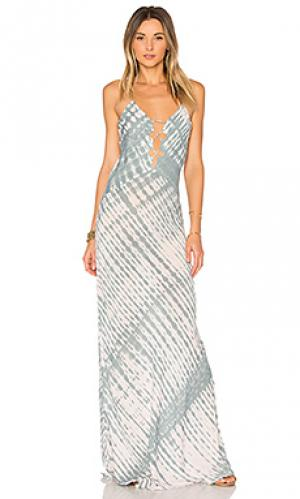 Макси платье berawa Acacia Swimwear. Цвет: синий