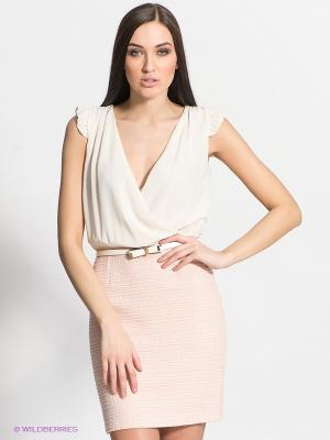 Платье FRACOMINA. Цвет: кремовый, бледно-розовый