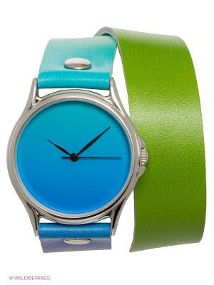 Часы DenisMart. Цвет: салатовый, голубой, желтый