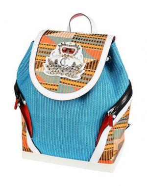Рюкзаки и сумки на пояс CHRISTIAN LOUBOUTIN. Цвет: лазурный