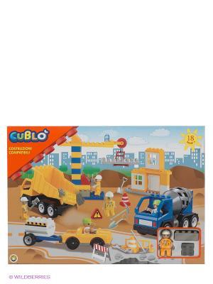 Конструктор Строительная площадка Globo. Цвет: желтый, синий, серый
