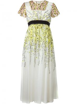 Платье с цветочным узором Giambattista Valli. Цвет: многоцветный