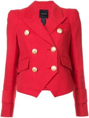 Двубортный пиджак Cadet Smythe. Цвет: красный