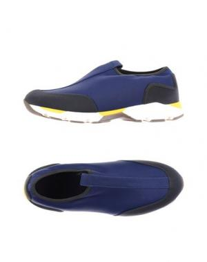 Низкие кеды и кроссовки MARNI. Цвет: темно-синий