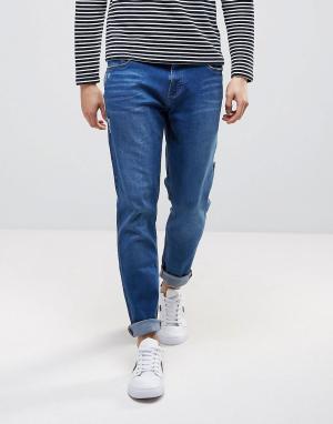 Waven Синие джинсы скинни заниженного кроя. Цвет: синий