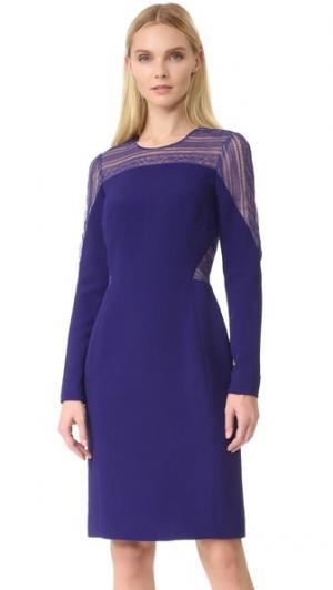 Платье с длинными рукавами и округлым вырезом J. Mendel. Цвет: тутовник