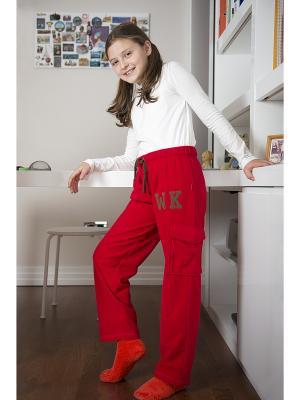 Спортивные брюки WonderKids. Цвет: красный