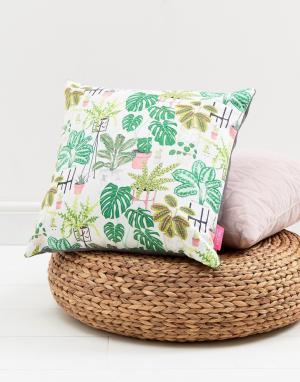 OHH DEER Подушка с пальмовым принтом. Цвет: мульти