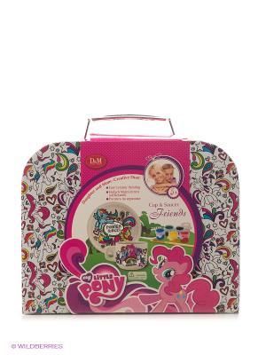 Набор для росписи чайной пары Пони Делай с мамой. Цвет: розовый