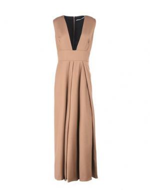 Длинное платье LAVINIATURRA. Цвет: верблюжий