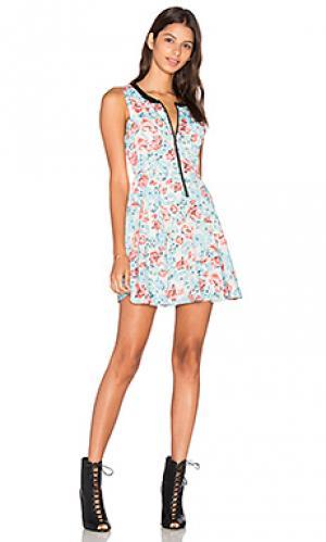 Платье quinn Lucca Couture. Цвет: синий