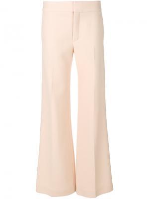 Широкие брюки клеш Chloé. Цвет: розовый и фиолетовый
