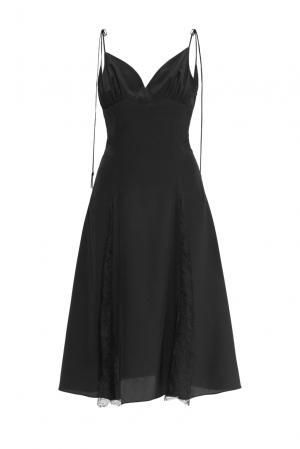 Платье-комбинация из шелка 159414 Mari Axel. Цвет: черный