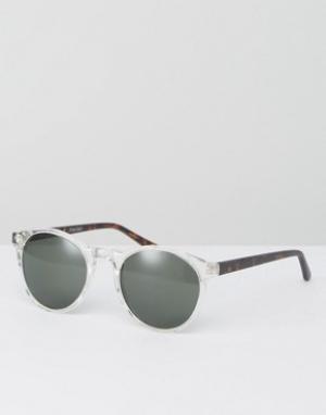 AJ Morgan Круглые солнцезащитные очки в прозрачной оправе. Цвет: прозрачный