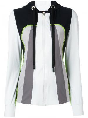 Куртка на молнии с капюшоном No Ka Oi Ka'. Цвет: чёрный