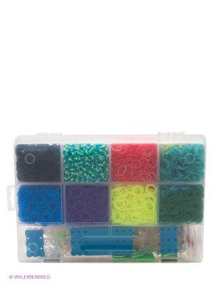 Наборы для плетения. Набор резиночек. Праздничный карнавал Белоснежка. Цвет: голубой, розовый, желтый, белый