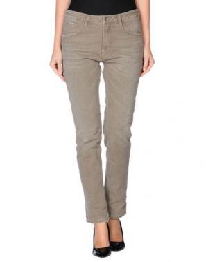 Джинсовые брюки POÈME BOHÈMIEN. Цвет: песочный