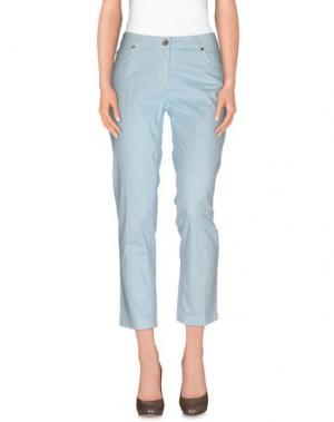 Повседневные брюки HENRY COTTON'S. Цвет: небесно-голубой
