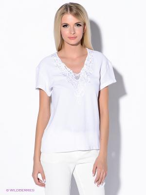 Блузка Oodji. Цвет: белый