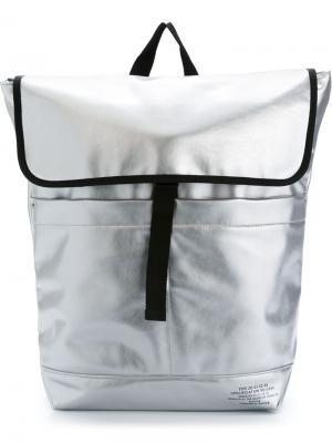 Рюкзак с откидным клапаном Zucca. Цвет: металлический