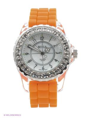 Часы Bora. Цвет: оранжевый, серебристый