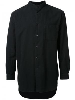 Рубашка с воротником-стойкой Gold. Цвет: чёрный