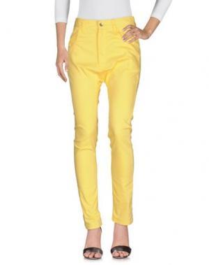 Джинсовые брюки TSUMORI CHISATO. Цвет: желтый