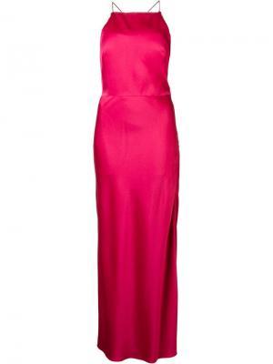 Длинное платье с вырезом-халтер Jason Wu. Цвет: розовый и фиолетовый