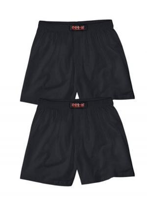Боксерские трусы, 2 штуки H.I.S.. Цвет: серый меланжевый+черный, темно-синий/серый меланжевый