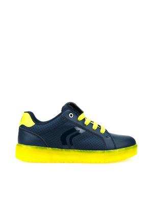 Сникеры GEOX. Цвет: синий, светло-желтый