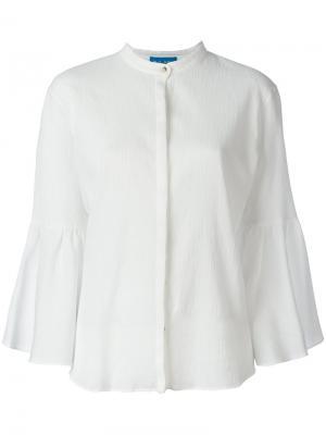 Блузка Goldie Mih Jeans. Цвет: белый