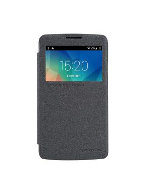 Чехол-книжка для LG L60 (X145) Sparkle leather case Nillkin. Цвет: черный