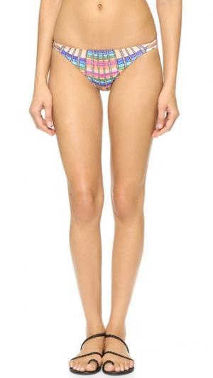 Плавки бикини Flight Sand с завязками по бокам Mara Hoffman. Цвет: пестрый персиковый