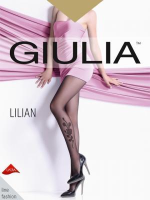 Фантазийные колготки LILIAN 04, 2 пары (20 ден) Giulia. Цвет: светло-коричневый