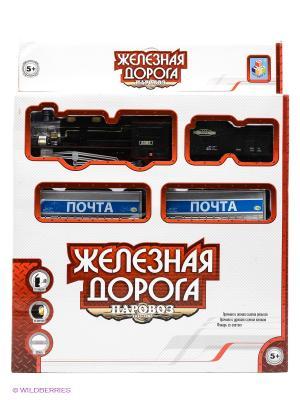 Железная дорога 1Toy. Цвет: черный, синий, серебристый