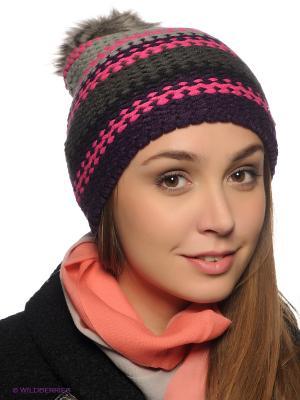 Шапка Viking caps&gloves. Цвет: розовый, серый, темно-серый, фиолетовый